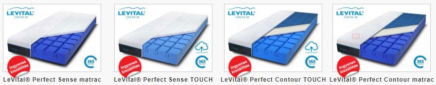 Levital Perfect matraccsalád típusai