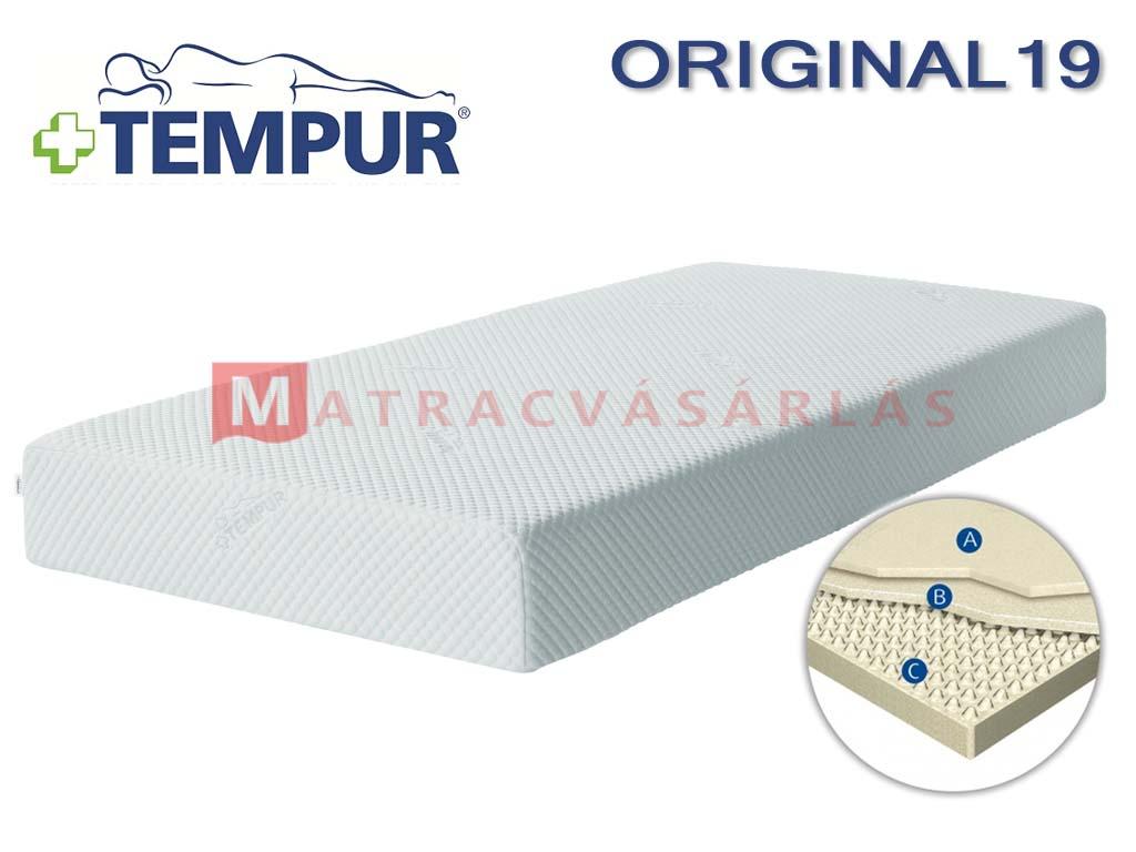 tempur original 19 memory foam matrac matrac web ruh z. Black Bedroom Furniture Sets. Home Design Ideas