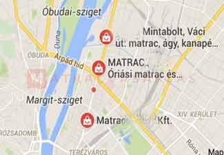 Matrac üzletek a Váci út és környékén